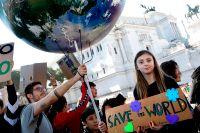 Skolstrejk för klimatet i Rom 2019.