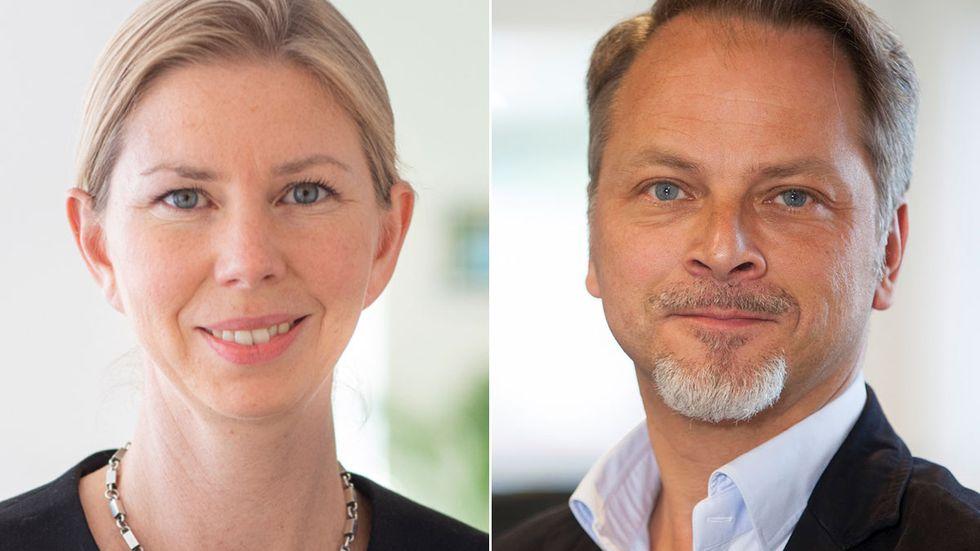 Anna Sörelius Nordenborg och Fredrik Lindgren.