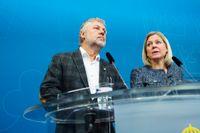 Bostadsminister Peter Eriksson och finansminister Magdalena Andersson och håller en pressträff om bostadspolitiken i Rosenbad i Stockholm.