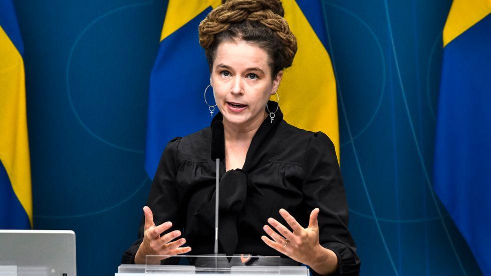 Kultur- och idrottsminister Amanda Lind.