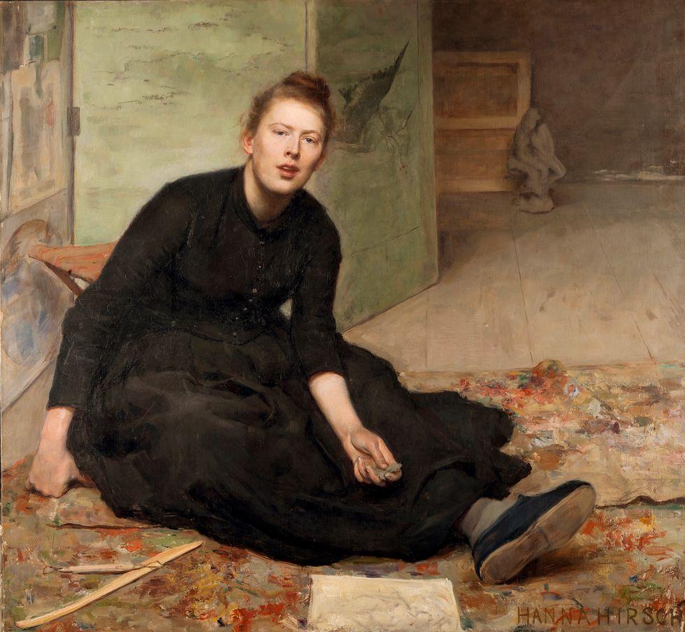 """Hanna Hirsch-Pauli, """"Konstnären Venny Soldan-Brofeldt"""", 1886–87. Olja på duk."""