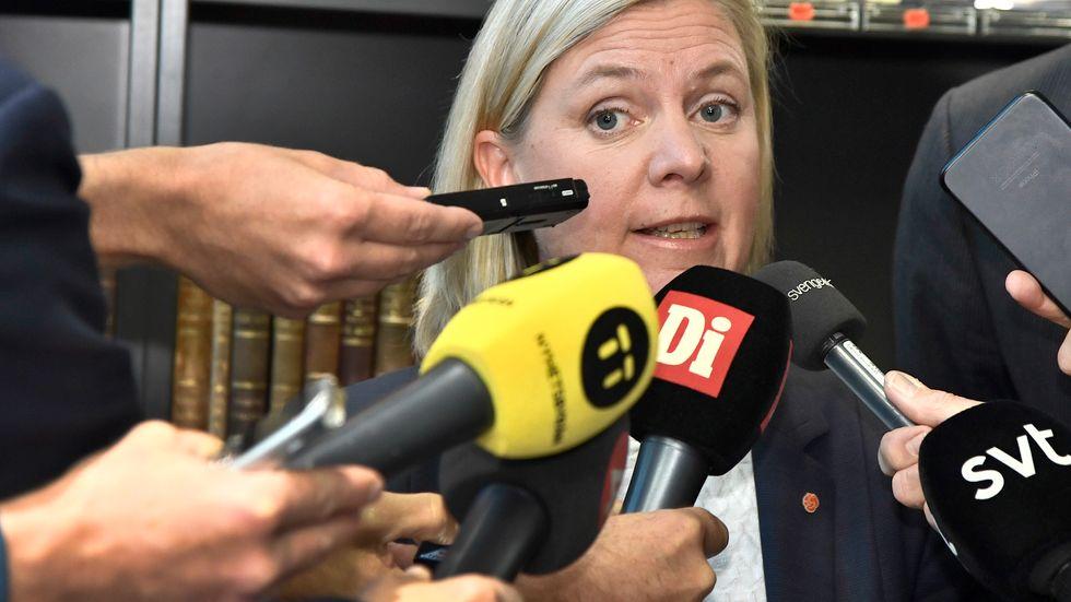 Finansminister Magdalena Andersson använder sig ofta av facktermen progressiv skatt.