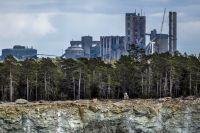 Cementas kalkbrott i Slite på Gotland.