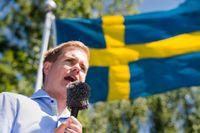 Gustav Fridolin höll sommartal i Vittsjö under lördagen.