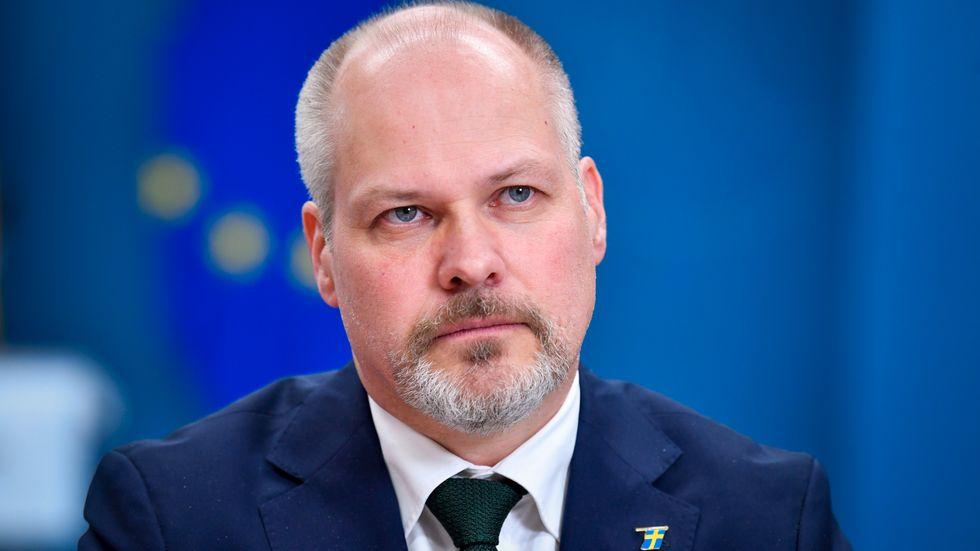 Justitie- och migrationsminister Morgan Johansson (S) får nej från riksdagen på förslagen om lättnader i gymnasielagen för ensamkommande som vill få permanent uppehållstillstånd. Arkivbild.