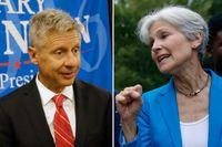 Garu Johnson, Libertarianerna och Jill Stein från Green Party