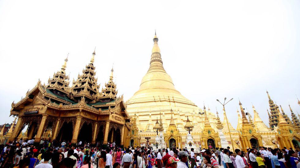 Shwedagon-pagoden i Rangoon.