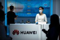 Huawei varnar nu för minskade intäkter. Arkivbild.