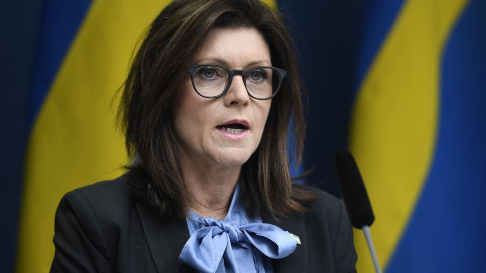 Arbetsmarknadsminister Eva Nordmark (S) krockar med riksdagen om regionala skyddsombuds makt. Arkivbild.