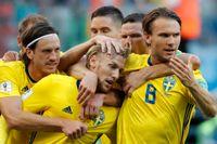 Emil Forsberg, mitten, är en av de svenska spelare som är värderad till stort belopp.