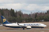 Ett Ryanair-flyg på Gardermoens flygplats. Bilden är från ett tidigare tillfälle. Arkivbild.