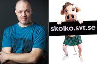 """""""Svenska Nyheters"""" producent Michael Lindgren försvarar satirgreppet ansökningsverktyget till friskolorna."""