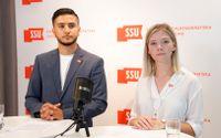 Diyar Cicek och Lisa Nåbo, Sveriges socialdemokratiska ungdomsförbund.