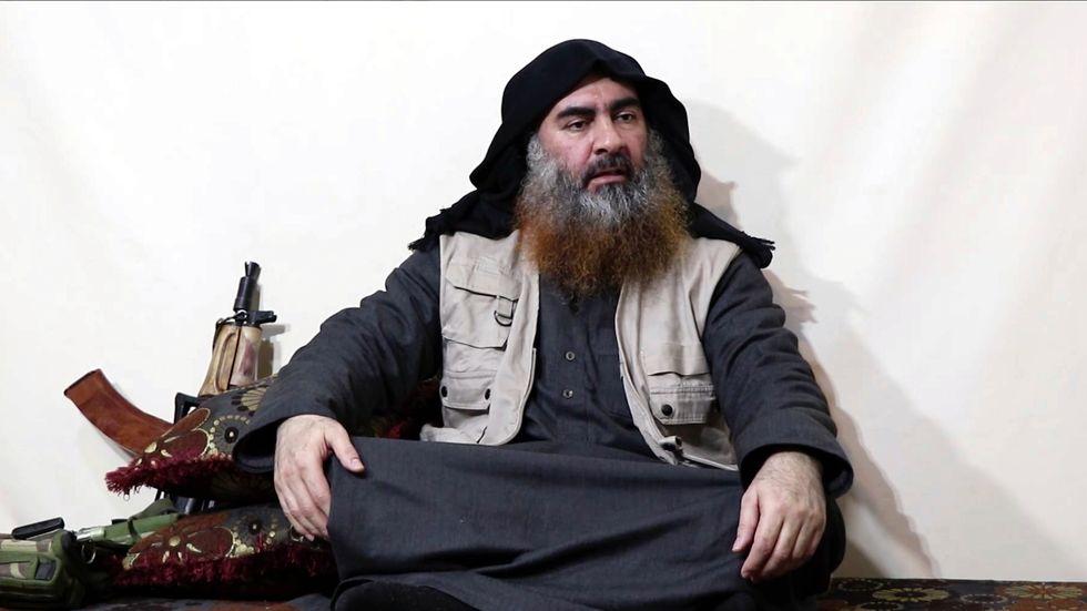 Abu Bakr al-Baghdadi i en video som offentliggjordes i april 2019.