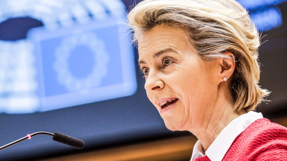 EU-kommissionens ordförande Ursula von der Leyen välkomnar EU-parlamentets ja till handels- och samarbetsavtalet med Storbritannien.