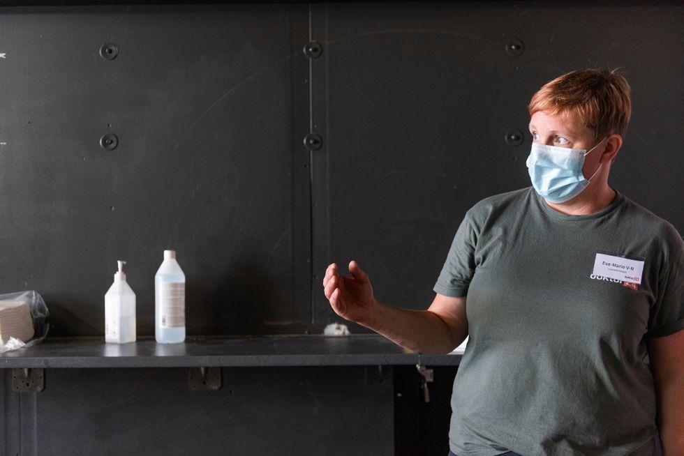 Eva-Marie Vesterlund-Rundgren, projektledare för vaccinationscentralen i Fållan.