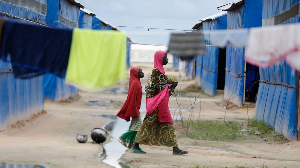 Ett flyktingläger i Maiduguri i delstaten Borno i nordöstra Nigeria, samma delstat där flyktinglägret i Rann ligger. Arkivbild.