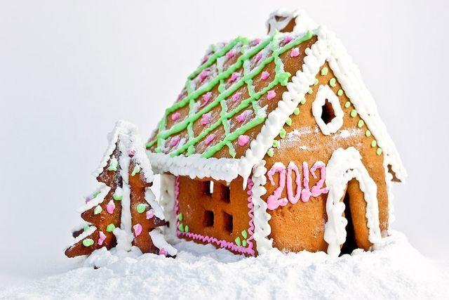 Låt pepparkakshuset hälsa nya året välkommen.
