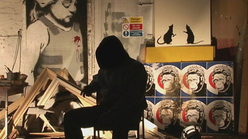 Gatukonstnären Banksys film handlar om dokumentärfilmaren Thierry Guetta som själv blir en gatukonstnär under namnet Mister Brainwash.