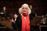 """Marika Lagercrantz är recitatör under kollektivmanifestationen """"Delad ensamhet: Mosaic tales I–III"""" där Kammarensemblen spelar musik av 107 svenska tonsättare."""