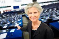 Anna Maria Corazza Bildt (M) i EU-parlamentet i Strasbourg.
