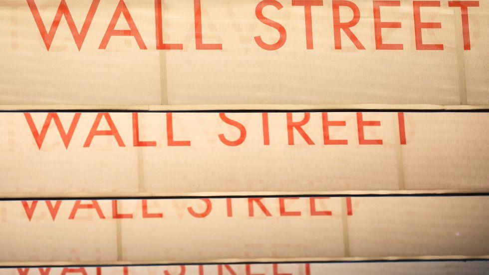 Wall Street gick upp. Arkivbild