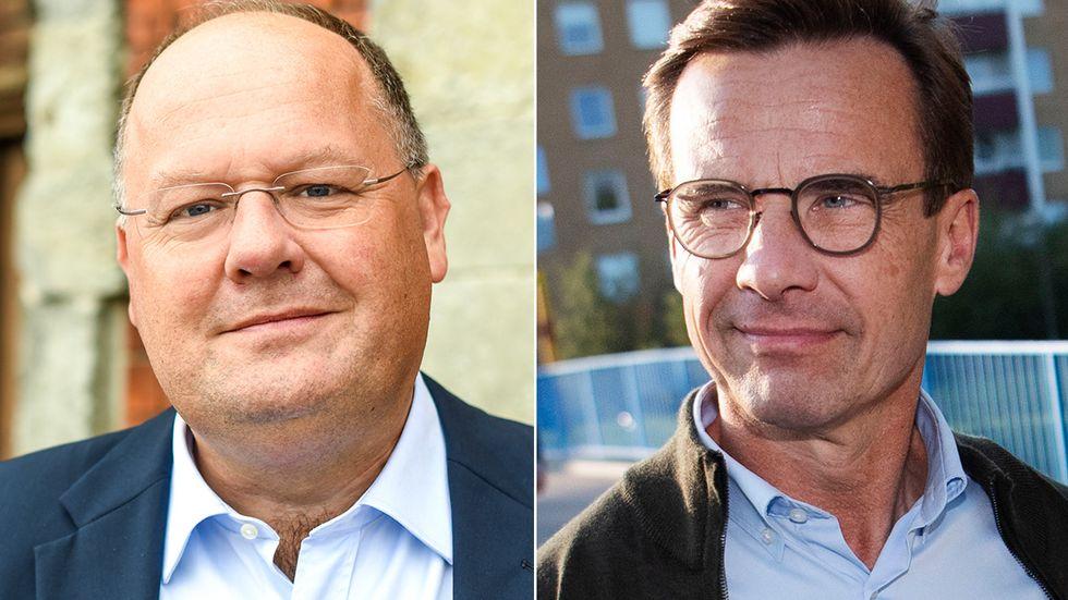 Torkild Strandberg (L) och Ulf Kristersson (M).