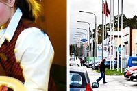 Till vänster: En stressad servitris bär ut tre tallrikar. Till höger: Billhandlare i Sätra i Stockholm.