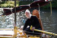 Ensamseglaren Sven Yrvind tvingas avbryta sin soloseglats i båten Exlex. Arkivbild.
