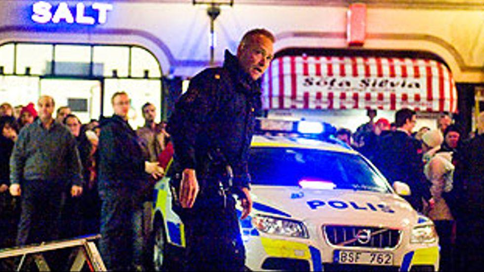 Explosion i centrala Stockholm.