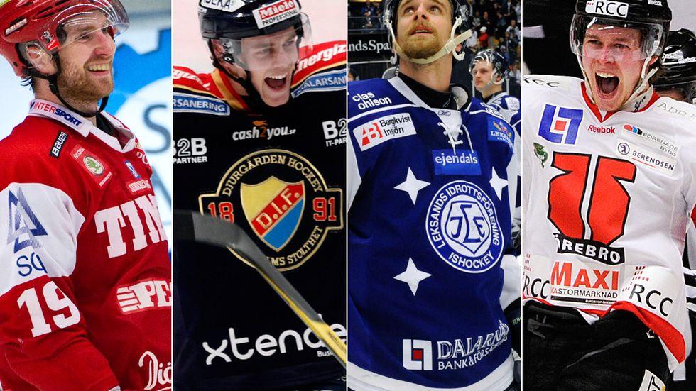 Timrå, Djurgården, Leksand och Örebro gör upp om de två elitserieplatserna, tror SvD:s expertpanel.