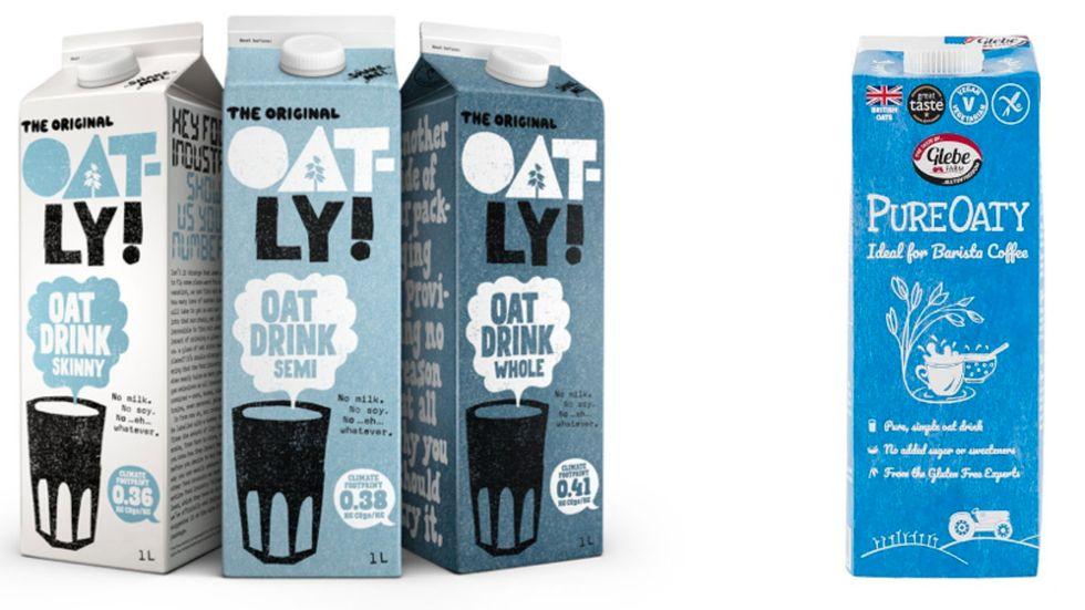 Oatly har ansett att namnet Pureoaty är för likt deras, samt att förpackningen med en kaffe/te-kopp på är för snarlik. Men den brittiska domstolen höll inte med. Pressbild.