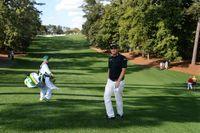 Peter Hanson tränar på Augusta.