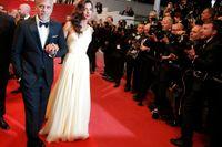 George Clooney och Amal Clooney i Cannes i maj förra året. Arkivbild.