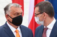 Premiärministrarna Viktor Orbán och Mateusz Morawiecki – säger fortsatt nej till EU:s nästa långtidsbudget.