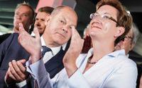 Finansminister Olaf Scholz och hans medkandidat Klara Geywitz fick flest röster när tyska SPD röstade om ny partiledare. Arkivbild