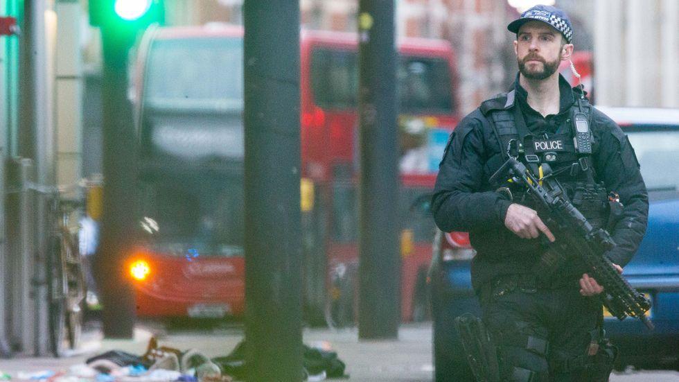 Brottsplatsen i London.