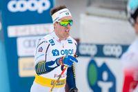 Calle Halfvarsson blev nia i sprinten vid världscuptävlingarna i Falun.