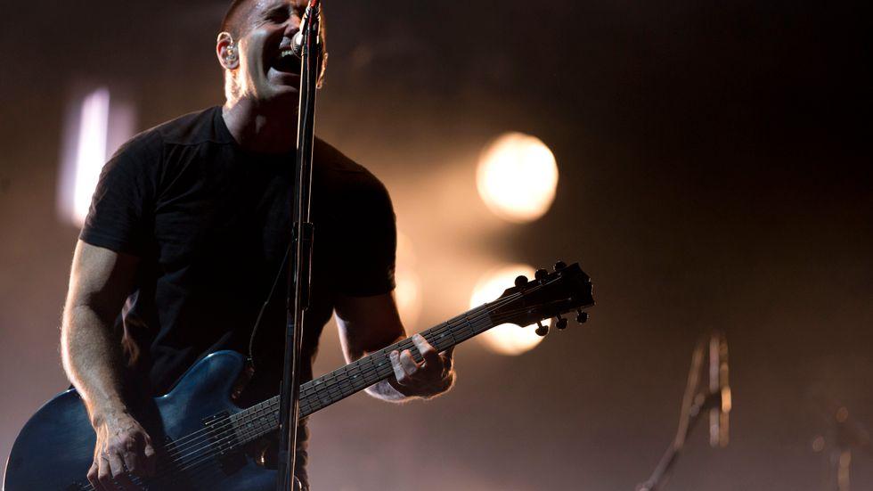 Trent Reznor i Nine Inch Nails. Arkivbild.