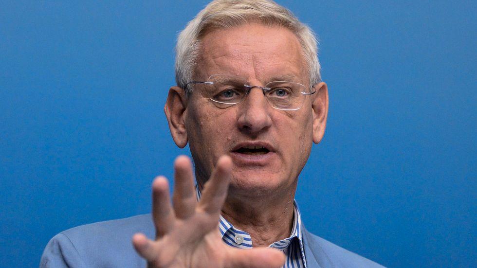 Tidigare utrikesminister och statsminister Carl Bildt (M). Arkivbild.