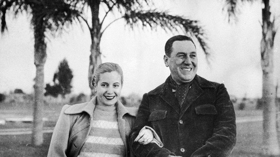 Eva (Evita) och Juan Perón, 1950.