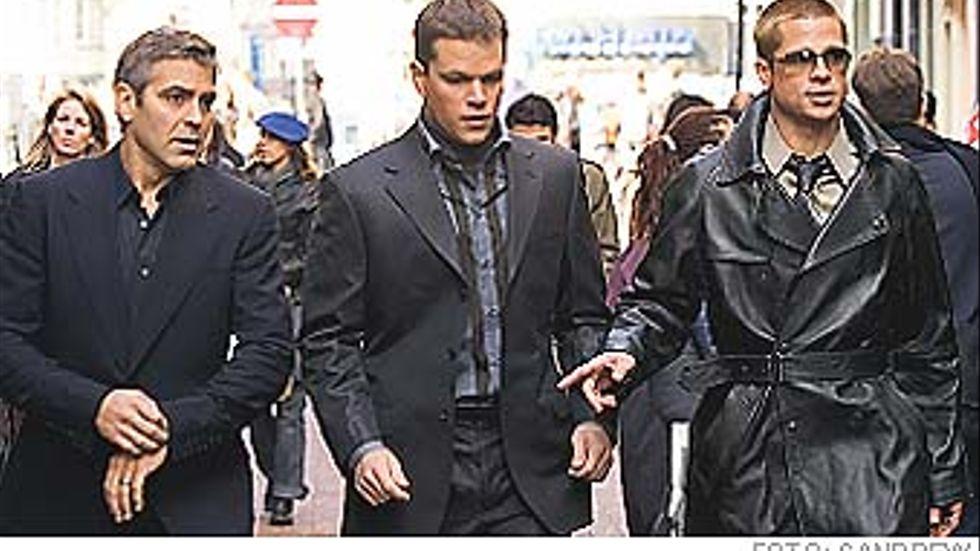 George Clooney, Matt Damon och Brad Pitt.