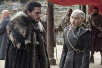Jon Snow och Daenerys Targaryen är två som kommer att finnas på frimärken i Storbritannien. Arkivbild.