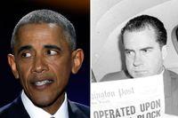 Gerald Ford, Barack Obama och Richard Nixon.