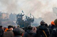 Krigsdimma: Euromajdan i Kiev, februari 2014.