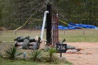 Bunkern på gården till kidnapparens hem i Alabama.