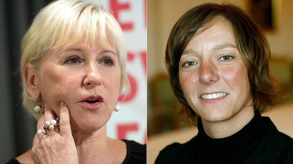 Margot Wallström och Matilda Ernkrans