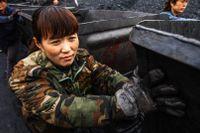 Kolgruva i Huaibei-provinsen i Kina.
