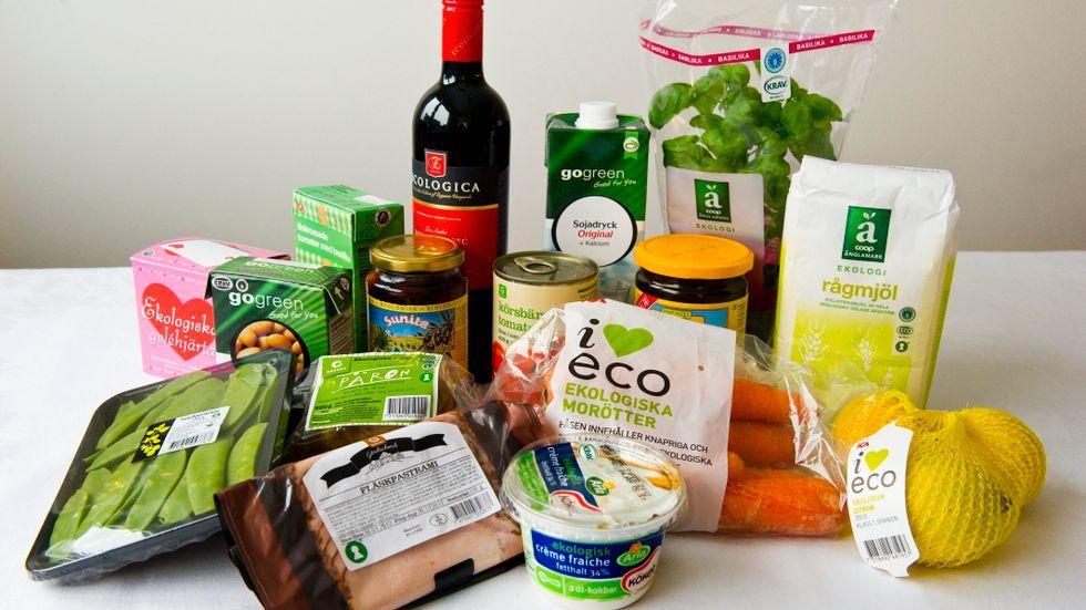Bara 20 procent av de tillfrågade i en undersökning säger att de köper ekologiska livsmedel i ganska eller mycket stor utsträckning. Arkivbild.