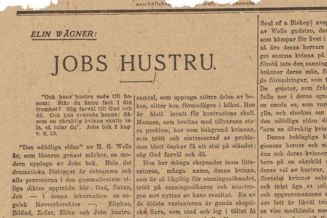 Denna artikel var införd i SvD den 8 december 1919.